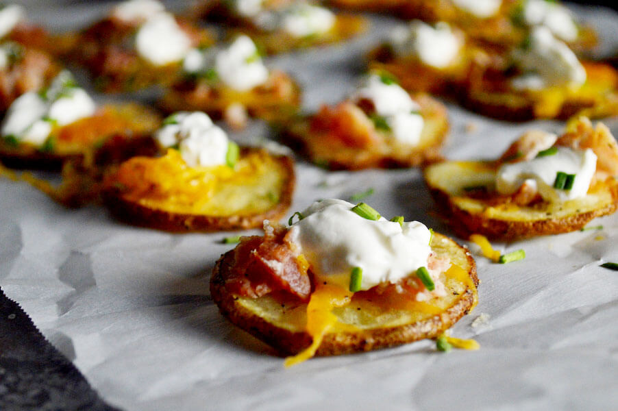 5 step Loaded Baked Potato Rounds